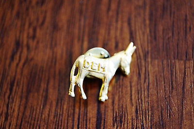 Democratic Party Goldtone Donkey Vintage
