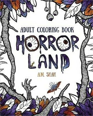Adult Coloring Book: Horror Land (Paperback or Softback)