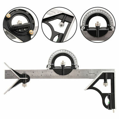 30cm Combination Square Ruler Stainless Steel Machinist Measuring Angle Rulers