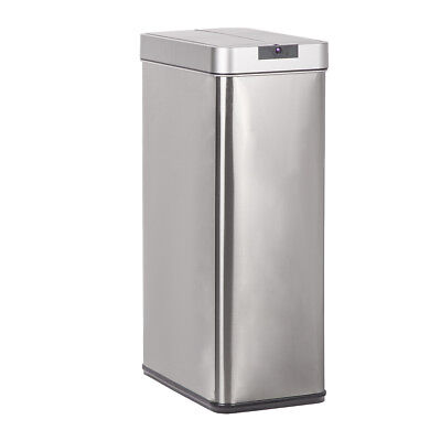 18 Gallon Trash Can Touch-Free Sensor Stainless Steel Trash Can BestOffice 18S