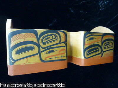 "Fantastic Bent Wood Double Bowl by David Boxley, Tsimshian ""What Was I thinking"""