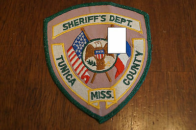Tunica County Mississippi Sheriffs Department Shoulder Patch Vintage NOS