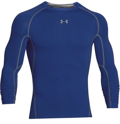 Under Armour 1257471 Men's Royal HeatGear L/S Compression Shirt - Size Small