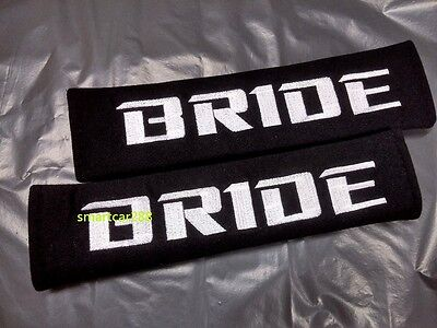 2pcs Seat Belt Cover Shoulder Pads Pairs with Embroidery Bride Racing Logo 1pair