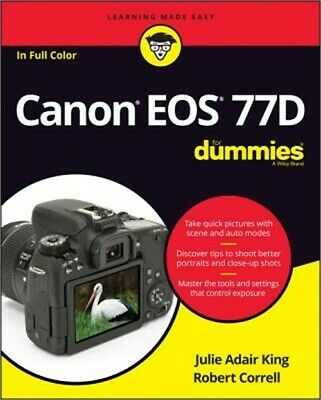 Canon EOS 77d for Dummies (Paperback or Softback)