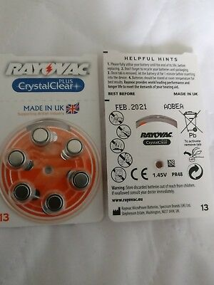 2 X  Rayovac Crystal Clear Plus 13 Packs 12 Batteries In Total Good Date