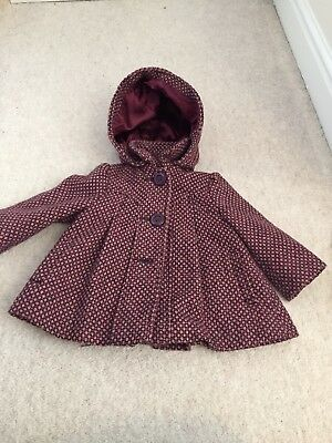 Monsoon Coat Girls 6-12 Months