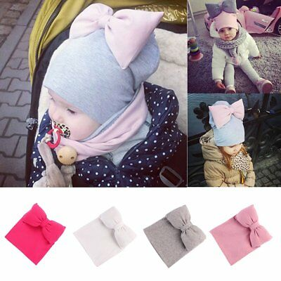 Cute Toddler Kids Girl&Boy Baby Infant Bowknot Hat Winter Warm Knit Beanie Cap