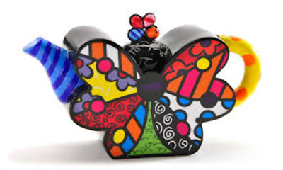 Mini Teapot Butterfly by Romeo Britto
