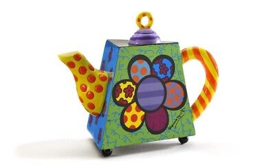 Mini Teapot Flower by Romeo Britto