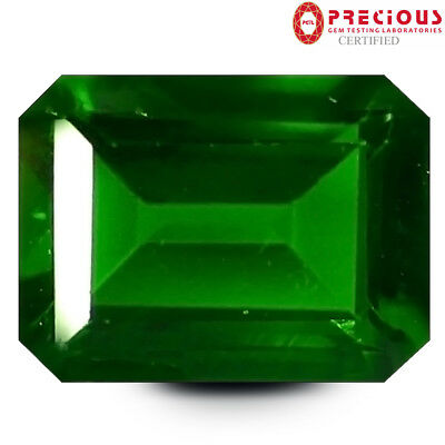 1.48 ct PGTL Certified Resplendent Octagon Cut (8 x 6 mm) Chrome Diopside