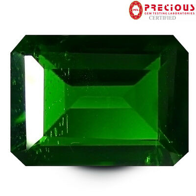 2.23 ct PGTL Certified Gorgeous Octagon Cut (9 x 7 mm) Chrome Diopside Gemstone
