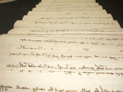 1533 Henry Viii, Rare Medieval Latin Advowson Suit, Rippingale, Lincolnshire