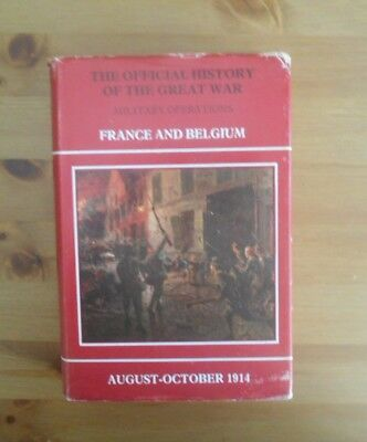official history GREAT WAR book FRANCE BELGIUM 1914 MONS military operations