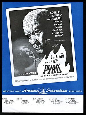 1963 Pyro the Thing Without a Face movie trade ad
