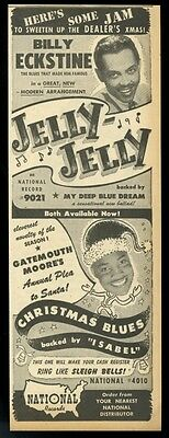 1946 Gatemouth Moore Billy Eckstine photo National Records trade print ad