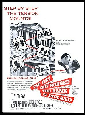 1960 The Day They Robbed the Bank of England movie trade print ad
