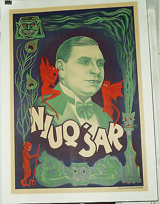 Very Rare Niuqsar Magic Poster Circa 1920