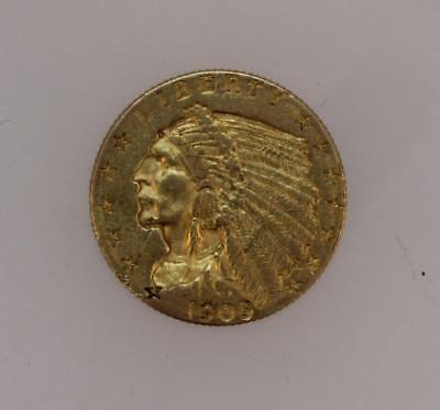 1909 $2.50 Indian Gold Coin
