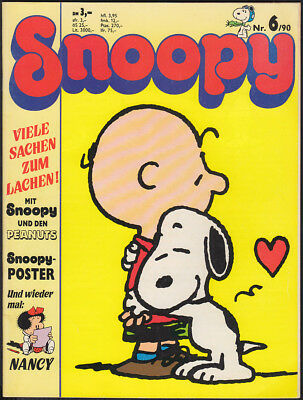 Snoopy Heft Nr. 6 + Poster (Softcover, Bavaria Comic 1. Auflage 1990) Z 1-2-