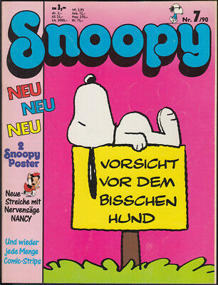 Snoopy Heft Nr. 7 + Poster (Softcover, Bavaria Comic 1. Auflage 1990) Z 2+
