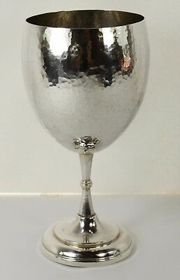 "Fantastic Hammered Silver Goblet Columbia .900 Silver made by maker ""ATN"""