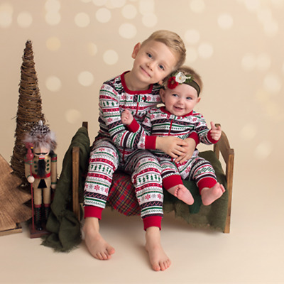 Baby Kids Todddler Christmas Pajamas PJs Sets Xmas Sleepwear Nightwear UK STOCK