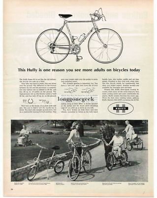 1965 Huffy Bicycle Super 60 10-speed Vtg Print Ad