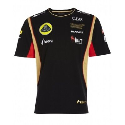 T-SHIRT Tee Mens Formula One 1 Lotus F1 Team NEW! Burn Raikkonen Black 2013