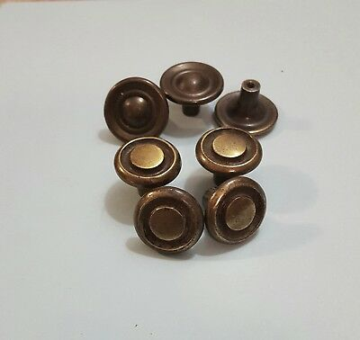 Lot of 7 Vintage Brass Drawer Pulls or Cabinet Knobs