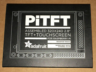 "Adafruit PiTFT, 320x240 2.8"" TFT + Touchscreen for Raspberry Pi"