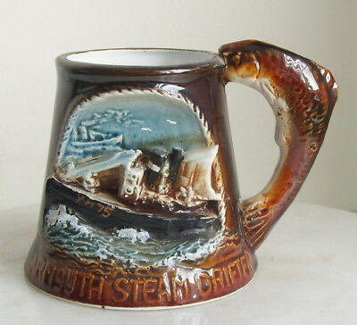 Great Yarmouth Pottery Mug  No.75 of 500 Yarmouth Steam Drifter - Low Fish Docks