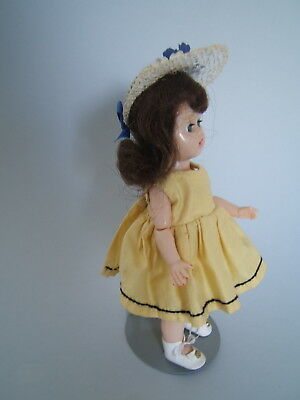 "Vintage 1956 8"" Cosmopolitan GINGER Doll w/Jointed Knees & Elbows"