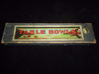 Antique table bowls full set with jack & chute excellent condition in box