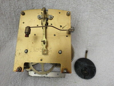 Vintage Enfield Striking 8 Day Clock Movement, Hands, And Pendulum  (Lot F)