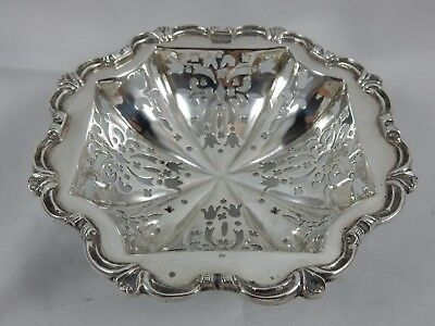 PRETTY solid silver VICTORIAN SWEET DISH, 1894, 129gm