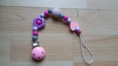 Baby Girl Wooden Clip-On Dummy Clip/pacifier/toy Holder Clip