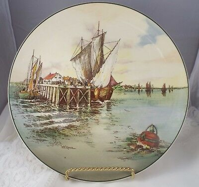 Royal Doulton England Charger Home Waters by  W.E.Grace D6434