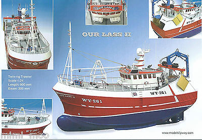 Model Slipway Boat Kit OUR LASS II  Trawler  Scale 1/24  Lth 900mm For RC NEW