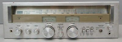 Vintage Sansui G-2000 Stereo Am Fm Stereo Receiver for Parts/Repair