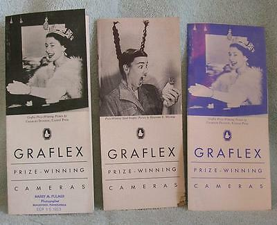 3 Graflex Price and Specification Booklets 1953