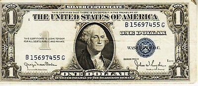 Series 1935 D    One Dollar Silver Certificate==Fair Condition