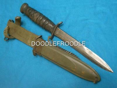 Vintage Ww2 Utica Usm3 Bomb Trench Combat Fighting Survival Bowie Knife Knives