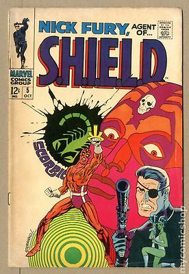 Nick Fury Agent of SHIELD (1968 1st Series) #5 GD/VG 3.0 LOW GRADE