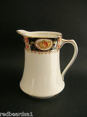 Bell Vintage English Bone China Creamer Milk Jug Floral Imari Cobalt c1930s