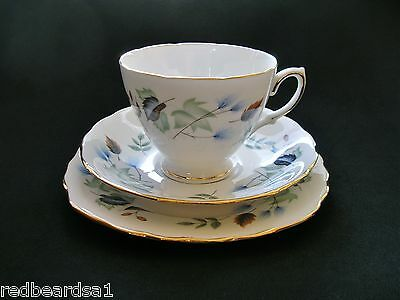 Colclough Vintage Bone China Trio Tea Cup Saucer Plate 8162 Linden England 1962