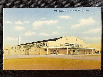 Vintage  Postcard Sports Arena Camp Rucker Alabama