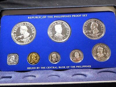 INV #Th31 Philippines 1975 Franklin Mint Silver Proof Set