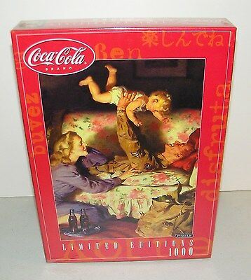 Rose Art Coca Cola US Serviceman WWII Military Family 1000 Pc. Jigsaw Puzzle NEW