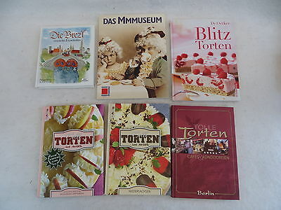 Lot Of 6 German Books On Torten Chocolate And Pretzels